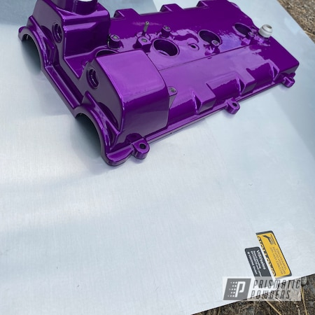 Powder Coating: Automotive,Clear Vision PPS-2974,MR2,Toyota,2 stage,Illusion Violet PSS-4514,Valve Cover