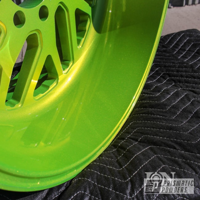 Powder Coating: Wheels,Two Stage Application,Alien Silver PMS-2569,Shocker Yellow PPS-4765