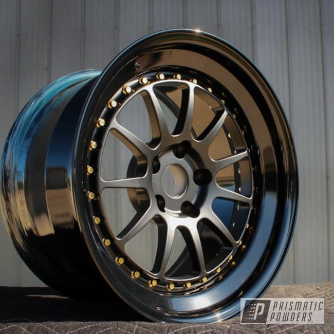 Powder Coating: Wheels,Custom Wheels,Ink Black PSS-0106,CCW