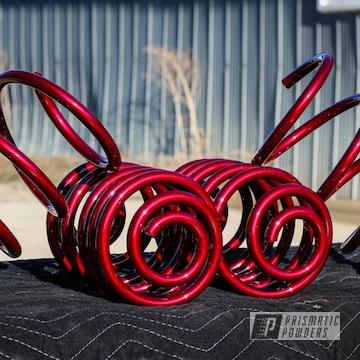 Custom Coated Springs In Illusion Cherry And Clear Vision
