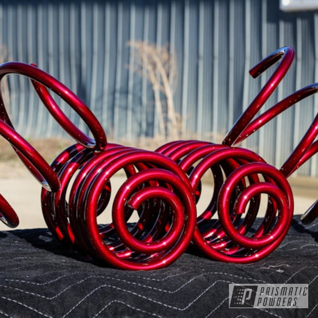 Powder Coating: Automotive,Clear Vision PPS-2974,Springs,Illusion Cherry PMB-6905
