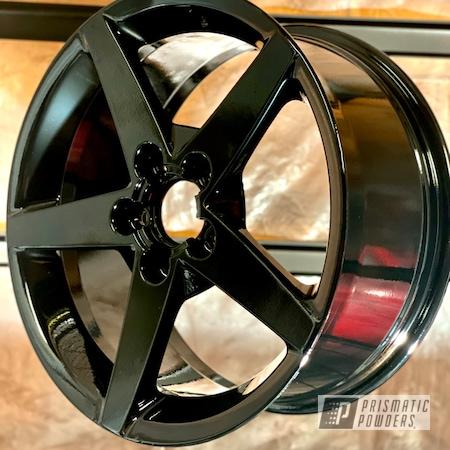 "Powder Coating: Wheels,19"" Wheels,Rims,Ink Black PSS-0106,Corvette"