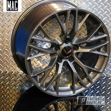 Powder Coated Corvette Wheels In Pps-2974 And Pmb-5027
