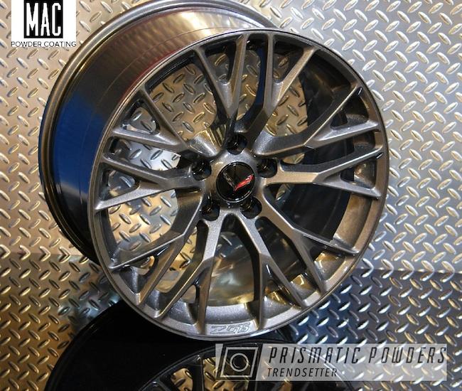 "Powder Coating: Wheels,Clear Vision PPS-2974,Rims,Z06,Kingsport Grey PMB-5027,19"" Aluminum Rims,Corvette,mac powder coating"