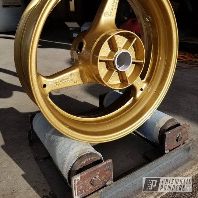 Powder Coating: Wheels,Clear Vision PPS-2974,gold,Spanish Gold EMS-0940
