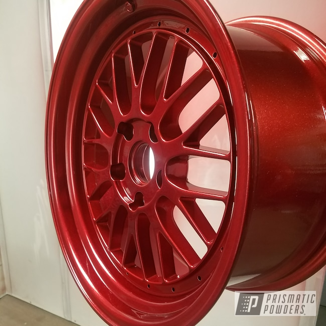 Powder Coating: BMW Wheels,BMW,Alien Silver PMS-2569,Racing Red UPB-6379