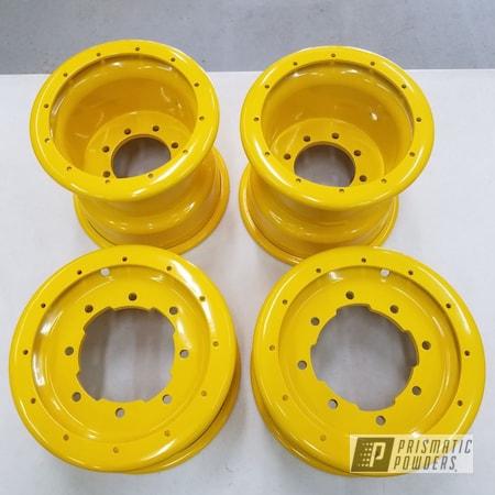 Powder Coating: SUZUKI YELLOW II PSS-7012,ATV Parts,Suzuki