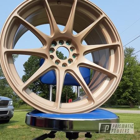 "Powder Coating: Wheels,XXR,Rims,18"" Aluminum Rims,Golden Beige PMB-2409"