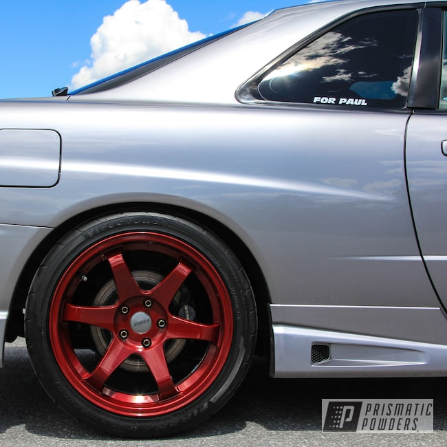 Powder Coating: Wheels,R34,Clear Vision PPS-2974,Nissan,GTT,Skyline,Illusion Cherry PMB-6905