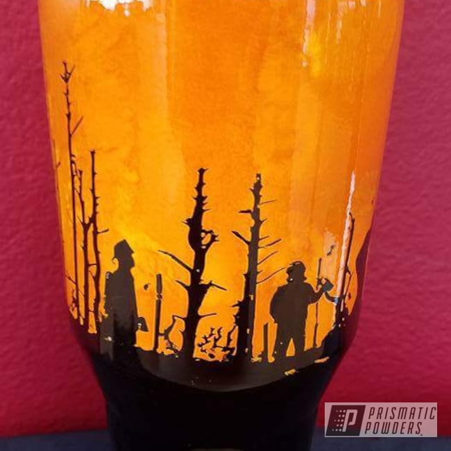 Powder Coating: Firefighter Theme,Clear Vision PPS-2974,RAL 2009 RAL-2009,Ink Black PSS-0106,Personalized,RAL 1018 RAL-1018,Custom Cup