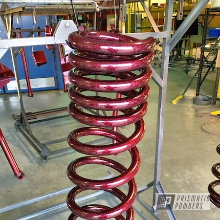Powder Coating: Automotive,Disco Red PPB-7044,Ink Black PSS-0106,Springs,Lift Kit
