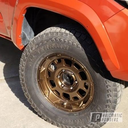 "Powder Coating: Wheels,Rims,16"" Wheels,Toyota Wheels,Lazer Bronze PMB-4152,Toyota,Tacoma,Aluminum Wheels"