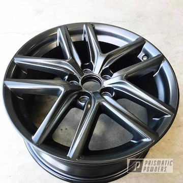 Custom Wheel Featuring Forged Charcoal With A Clear Vision Top Coat