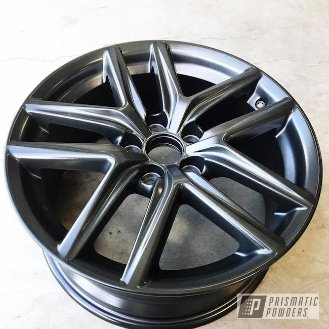Powder Coating: Wheels,Automotive,Clear Vision PPS-2974,Forged Charcoal UMB-6578