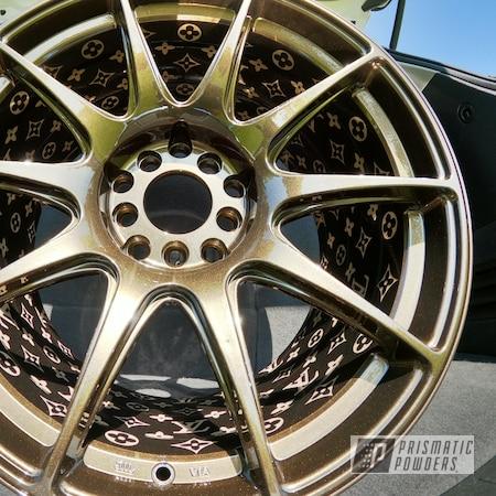 """Powder Coating: Wheels,Automotive,XXR,Clear Vision PPS-2974,Rims,Bronze Chrome PMB-4124,18"""" Aluminum Rims"""