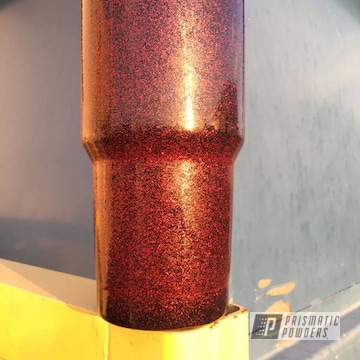 Custom Yeti Cup Coated In Disco Red Over Ink Black