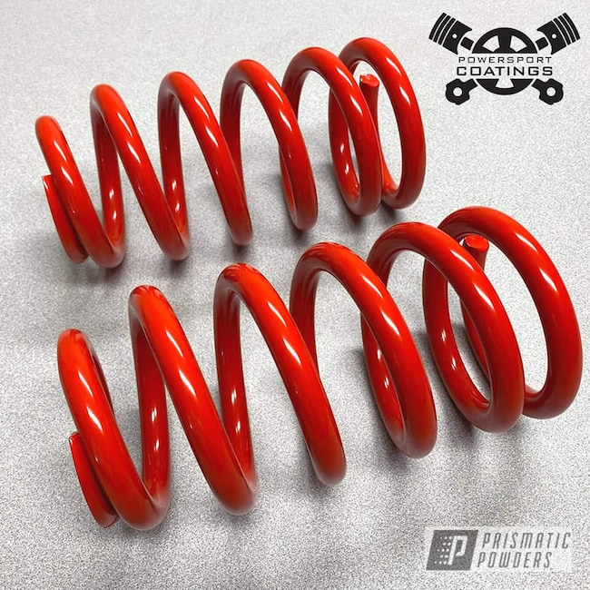Powder Coated Coil Springs In Ral 3020