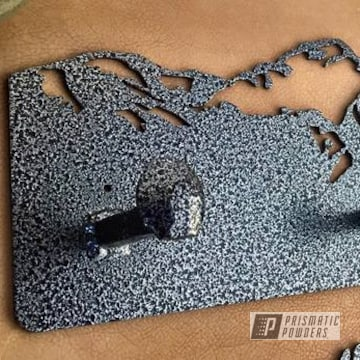 Custom Coat Rack Coated In A Textured Black Frost
