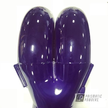 Custom Two Coat Intake Manifold Featuring Candy Purple Over Super Chrome