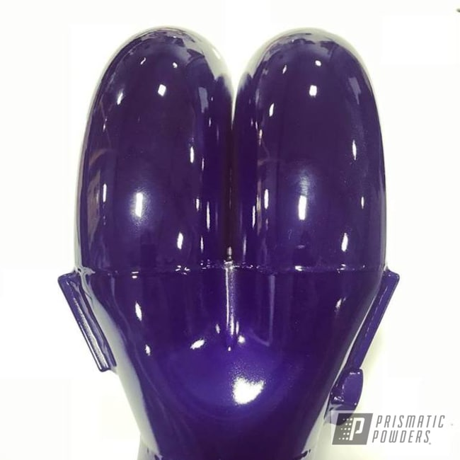 Powder Coating: Intake Manifold,Automotive,SUPER CHROME USS-4482,Two Coat Application,Candy Purple PPS-4442