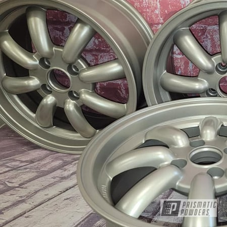 "Powder Coating: Wheels,Aluminum Wheel,Rims,Aluminum Rims,15"" Aluminum Rims,Automotive Rims,Performance Gold PMB-1808,Corvette,Automotive Wheels"