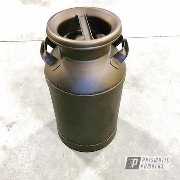 Custom Milk Can Coated In Oil Rubbed Bronze