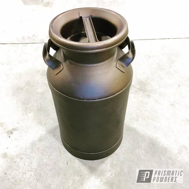 Custom Milk Can Coated In Oil Rubbed Bronze
