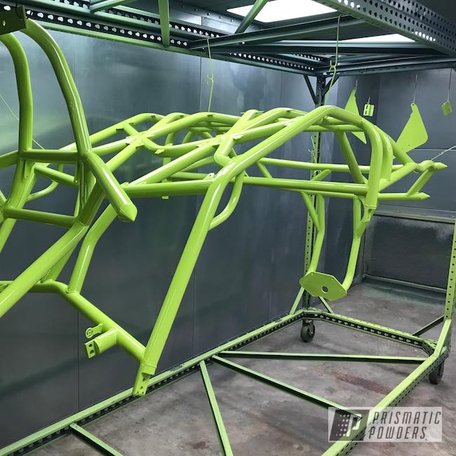 Powder Coating: Polaris RZR,Chartreuse Sherbert PSS-7068,Roll Cage,Rzr 1000 XP,Razor Roll Cage,Polaris