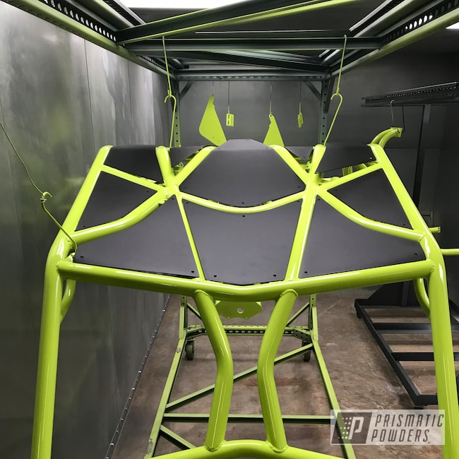 Powder Coating: Polaris RZR,Chartreuse Sherbert PSS-7068,Roll Cage,Rzr 1000 XP,Razor Roll Cage,Polaris