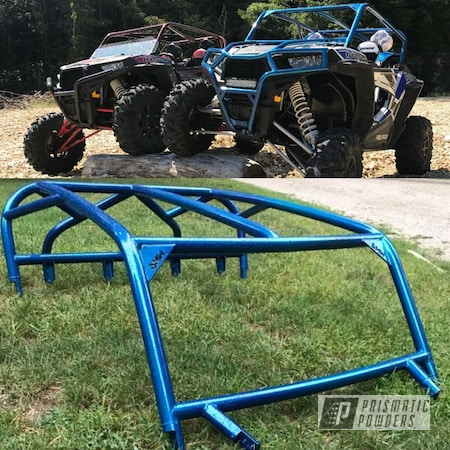 Powder Coating: Off-Road,Stardust Blue PPB-4676,Polaris,Rzr Cage,Polaris RZR Custom Roll Cage