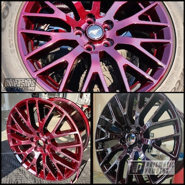 Powder Coated Mustang Wheels In Pps-2974 And Pmb-6906