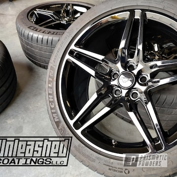 Powder Coated Mustang Wheels In Pss-0106