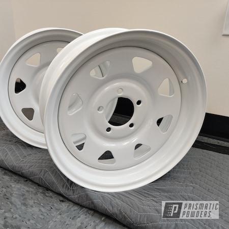 "Powder Coating: Wheels,15"" Steel Wheels,Rims,Gloss White PSS-5690"