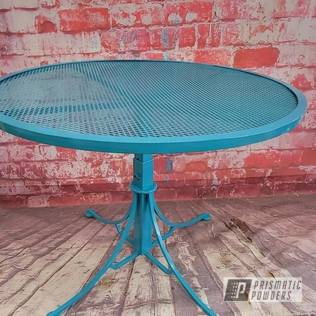 Powder Coating: Patio Table,Patio Furniture,Outdoor Furniture,Teal,Indian Turquoise PSS-2791,Outdoor Table