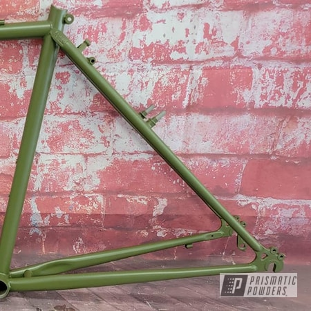 Powder Coating: Bicycle Parts,Bicycle,Army Green PSB-4944,Bicycle Frame,Army Green