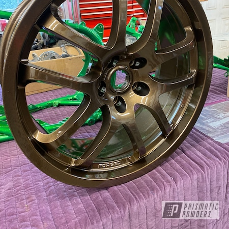 "Powder Coating: Wheels,Automotive,Rims,Bronze Chrome PMB-4124,22"""