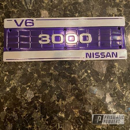 Powder Coating: Automotive,Nissan,2 Tone,Plue PPB-5630,Super Chrome Plus UMS-10671,Blue,3000,Valve Cover