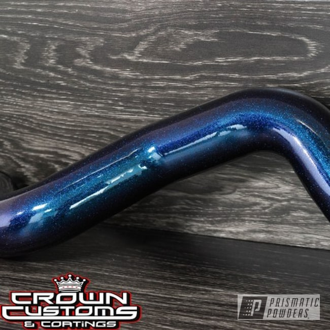 Intake Tube Coated In Chameleon Teal Top Coat