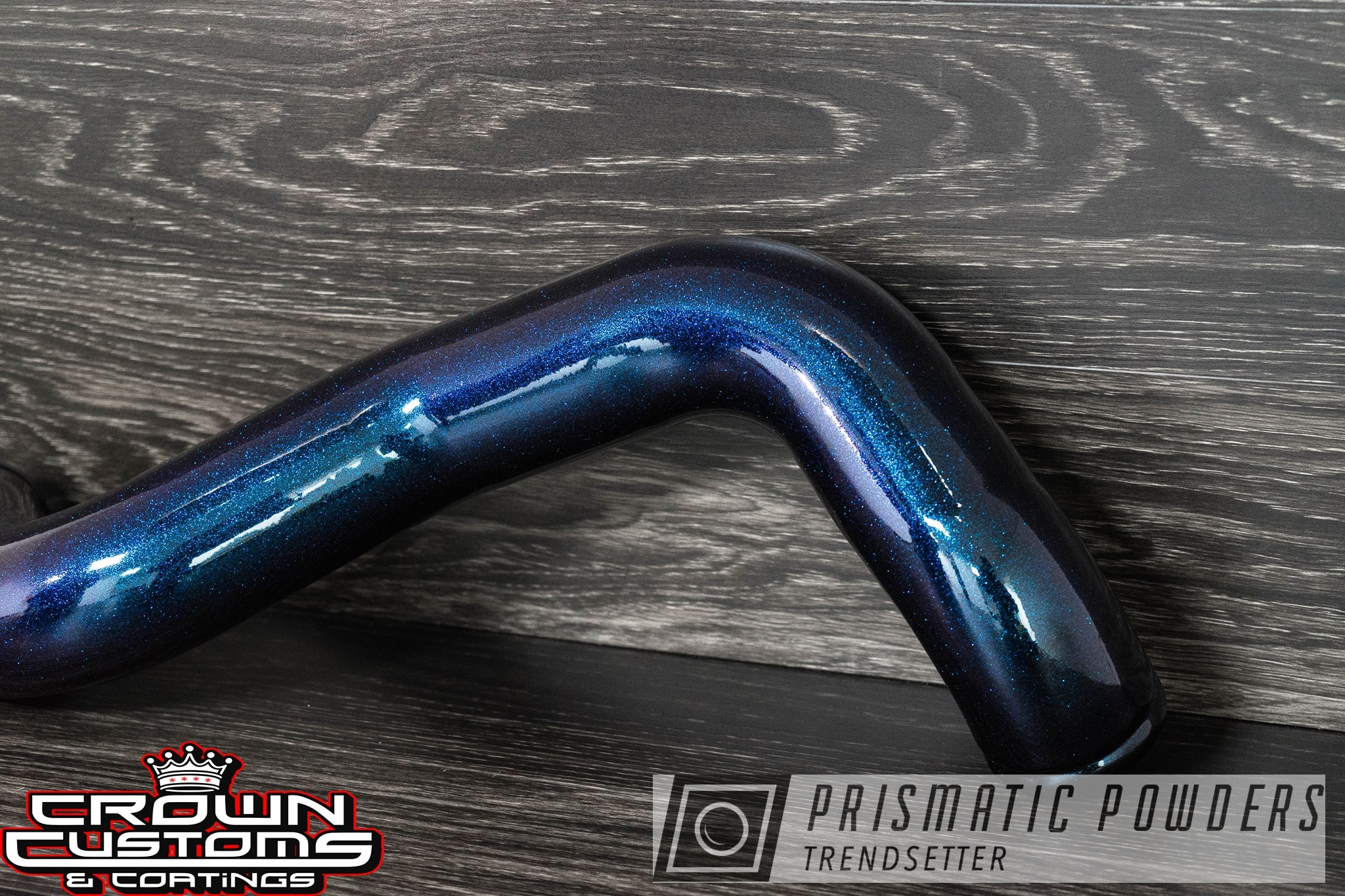 Powder Coating: Automotive,Chameleon Teal PPB-5733,Engine Parts,Intake Pipe