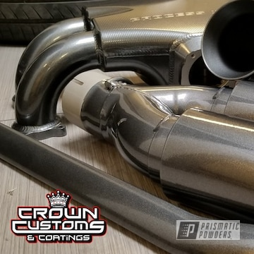 Exhaust Tips, Strut Bar, Intake Manifold And Intake Tube Coated In Kingsport Grey