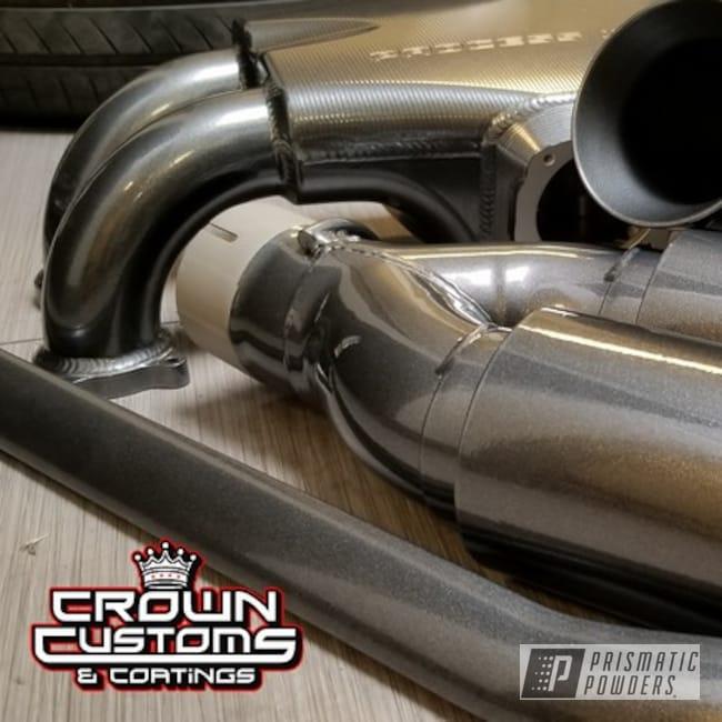 Powder Coating: Intake Manifold,Automotive,Strut Bar,Exhaust Tip,Kingsport Grey PMB-5027,Engine Parts