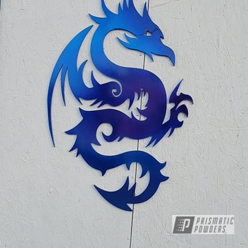 Powder Coated Metal Dragon Art In Ppb-6815, Ums-10671 And Pps-1505