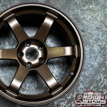 Volk Te37 Wheels Done In Bronze Chrome