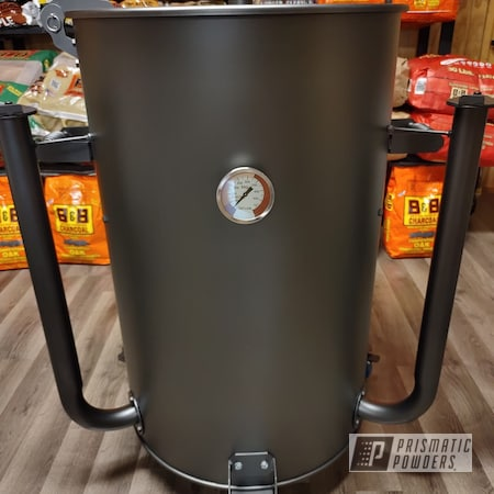 Powder Coating: Barrel Bum Smokers,FORGED CHARCOAL UMB-6578,BBQ Smoker,UDS,BBQ,Ugly Drum Smoker