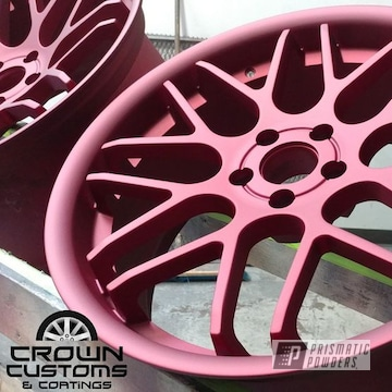 Matte Finished Wheels Done In Illusion Cherry With A Casper Clear Top Coat