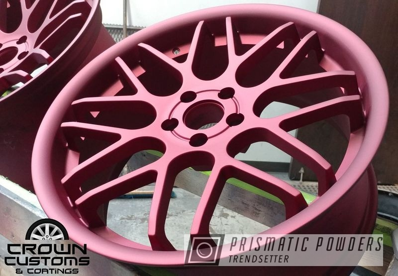 Powder Coating: Wheels,Illusion Cherry PMB-6905,Matte Finish,Casper Clear PPS-4005
