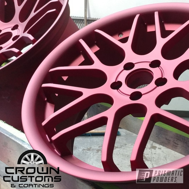 Powder Coating: Wheels,Illusion Cherry PMB-6905,Matte Finish,Casper Clear PPS-4005