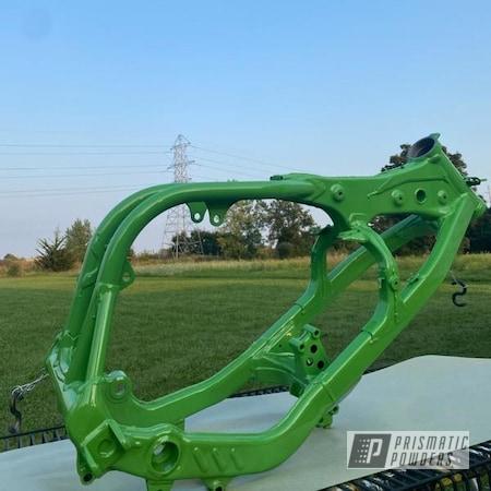 Powder Coating: Kawasaki,250,Clear Vision PPS-2974,KX250,2 stage,Kawi Green PSS-10664,Dirt Bike
