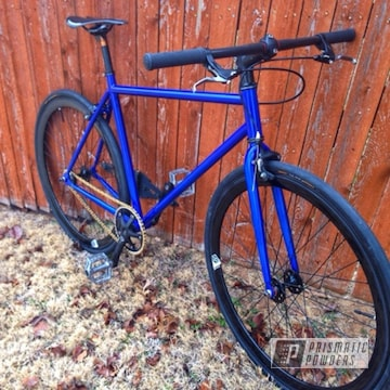 Bicycle Frame Coated In Illusion Blue-berg And Clear Vision