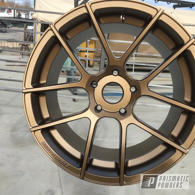 Powder Coating: Wheels,rockin rims,Rims,Applied Plastic Coatings,Powder Coated Avant Garde Wheels,bronze wheels,Highland Bronze PMB-5860